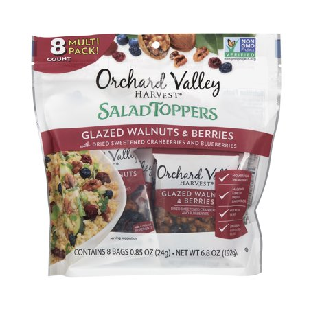 Orchard Valley Harvest Glazed Walnuts Salad Toppers, 0.85 oz (8