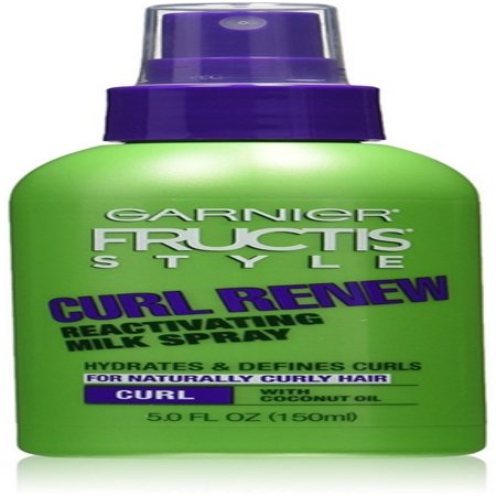 3 Pack - Garnier Fructis Style Curl Renew Reactivating Milk Spray 5 oz (Jerri Curl)