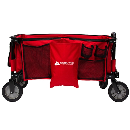 - Ozark Trail Quad Folding Wagon with Telescoping Handle, Red