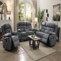 """Coaster Company 84"""" Houston Casual Motion Sofa, Stone"""