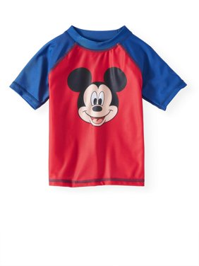 Mickey Mouse Toddler Boys' Rashguard Swim Top