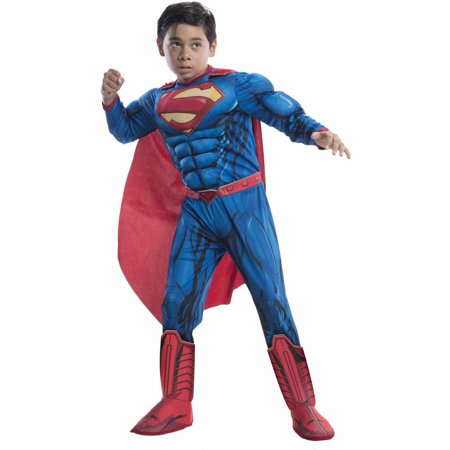 Superman Deluxe Child Halloween Costume](Superman Costume For Adults)