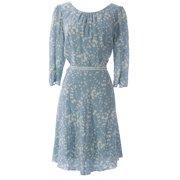 1ebc9eb9b50 BODEN Women s Printed Columbia Road Dress US Sz 12R Pale Blue White