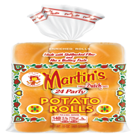 Martin's Party Potato Rolls, Made with Unbleached Flour & Non-GMO Ingredients, Bag of 24