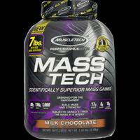 Muscletech Mass Tech Gainer Protein Powder, Milk Chocolate, 60g Protein, 7 Lb