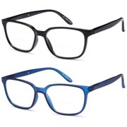 40d0ea96e0c ALTEC VISION Pack of 2 Classic Style Bifocal Readers Spring Hinge Reading  Glasses - 1.00x