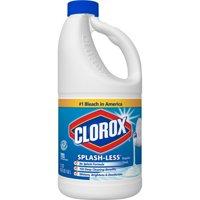 (2 Pack) Clorox Splash-Less Liquid Bleach, Regular, 55 oz. Bottle