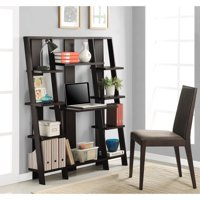 "Ameriwood Home 59"" Gradient Ladder Desk/Bookcase, Espresso"