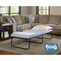 Simmons Beautysleep Folding Foldaway Extra Portable Guest Bed Cot with Memory Foam Mattress, Multiple Sizes