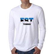 70d7c8a9 Estonia Tennis - Olympic Games - Rio - Flag Men's Long Sleeve T-Shirt