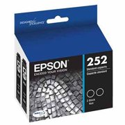 Epson T252 DURABrite Black Dual Pack Cartridge