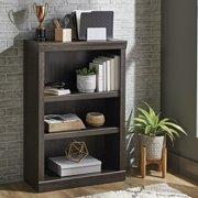 Better Homes & Gardens Glendale 3 Shelf Bookcase, Dark Oak Finish