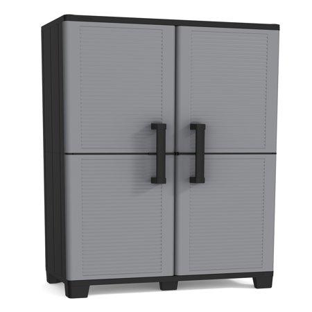 keter space winner resin storage plastic utility cabinet 15 x 27 rh walmart com Garage Storage Cabinets with Doors Garage Storage Cabinets with Doors