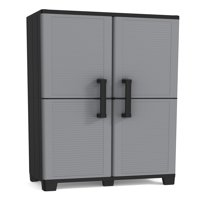 "Keter Space Winner Resin Storage, Plastic Utility Cabinet, 15"" x 27"", 4 Adjustable Shelves"