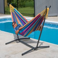 Vivere Double Tropical Hammock with Stand Combo