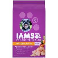 IAMS PROACTIVE HEALTH Mature Adult Dry Dog Food Chicken, 15 lb. Bag