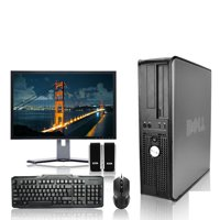 "Dell Optiplex Desktop Computer 3.3 GHz Core 2 Duo Tower PC, 4GB, 250 GB HDD, Windows 10 Home x64, 17"" Monitor , USB Mouse & Keyboard (Refurbished)"