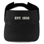 Trendy Apparel Shop EST 1932 Embroidered - 86th Birthday Gift Summer  Adjustable Visor 6e9946ca511