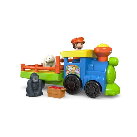 - Little People Choo-Choo Zoo Train with Conductor and 2-Animals