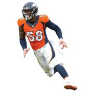 50cb4f78 Von Miller Denver Broncos Fathead Life Size Removable Wall Decal - No Size