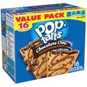 (2 pack) Kellogg's Pop-Tarts Breakfast Toaster Pastries, Frosted Chocolate Chip Flavored, Value Pack, 29.3 oz 16 Ct