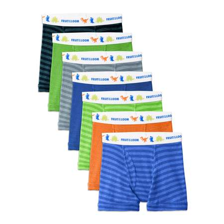 Fruit of the Loom Assorted Cotton Boxer Briefs, 7 Pack (Toddler Boy) ()