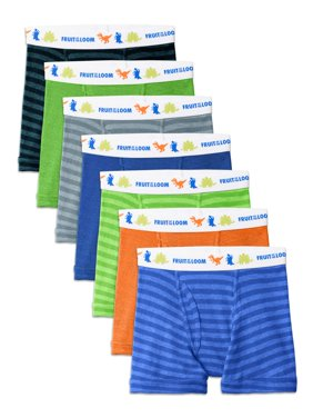 Fruit of the Loom Assorted Cotton Boxer Briefs, 7 Pack (Toddler Boy)