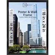 Mainstays 18x24 Trendsetter Poster And Picture Frame Black