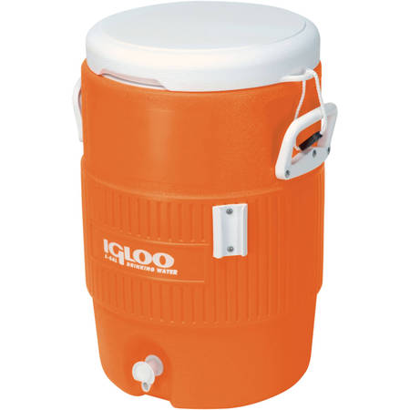 - Igloo 5-Gallon Heavy-Duty Beverage Cooler, Orange