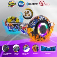 "UL2272 Certified Bluetooth 6.5"" Hoverboard Two Wheel Self Balancing Scooter with LED For Kids FREE Bag (WHEELS-UC6.5-GRAFFITI)"