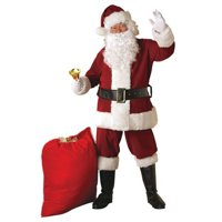 Crimson Regal Plush Santa Suit Adult
