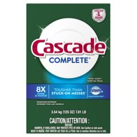 Cascade Complete Powder Dishwasher Detergent, Fresh Scent, 125 ounces