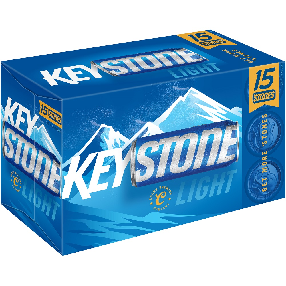 Keystone Light Beer, 15 pack, 12 fl oz Can