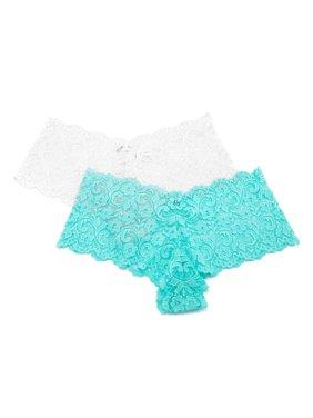 Womens Lace Boyleg Panty - 2 Pack, Style SA131