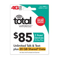 Total Wireless $85 Shared* Family Plan (Email Delivery) Extra Data Promotion Available**