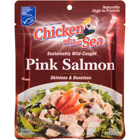 (3 Pack) Chicken of The Sea Skinless Boneless Wild Pink Salmon, 5 oz