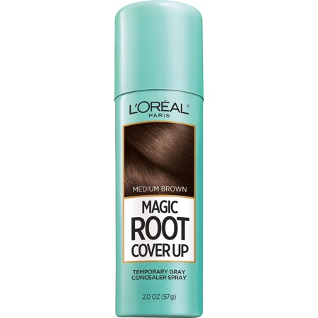 L'Oreal Paris Magic Root Cover Up Gray Concealer Spray](Temporary Colored Hair Dye)