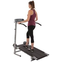 EXERPEUTIC 100XL High-Capacity Magnetic Resistance Manual Treadmill with Heart Pulse System