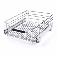 """Seville Classics 17.75""""D x 14""""W Pull-Out Sliding Steel Wire Cabinet Drawer"""