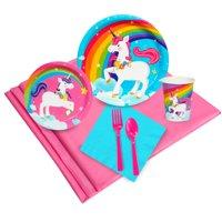 NA 57 Piece Fairytale Unicorn Plastic Disposable Party Supplies Set