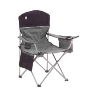 Coleman Oversized Quad Chair with Cooler and Cup Holder, Black/Gray | 2000020256