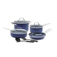 Blue Diamond Toxin-Free Ceramic Non-Stick Cookware Set, 10-Piece - Dishwasher, Oven, Broiler, Metal Utensil Safe