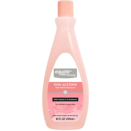 (4 Pack) Equate Non-Acetone Nail Polish Remover, 10 Fl Oz Barielle Acetone Free Nail Polish Remover