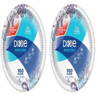 Dixie Everyday Paper Plates, Lunch, 100 Count