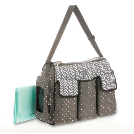 Fun Diaper Bags (Child of Mine by Carter's Places and Spaces 3 Pocket Duffle Diaper Bag Gray)