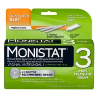 Monistat 3-Day Yeast Infection Treatment | Pre-filled + Itch Cream