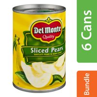 (6 Pack) Del Monte Sliced Pears, 15.25 OZ
