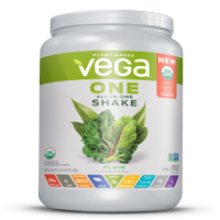 Vega One Organic All in One Shake, Plain Unsweetened 26.9 oz, 20 servings