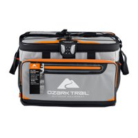 Ozark Trail 48 Can Zipperless Cooler with Smartshelf, Gray