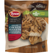 Tyson® Premium Select Fully Cooked Grilled Chicken Breast Nuggets 20 oz. (Frozen)